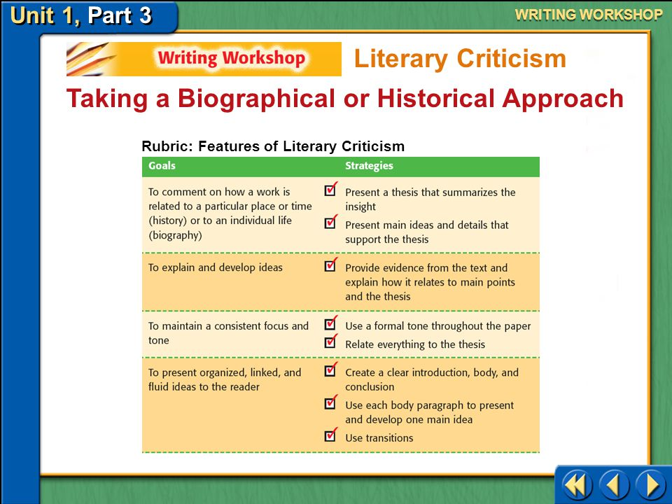 Taking a Biographical or Historical Approach