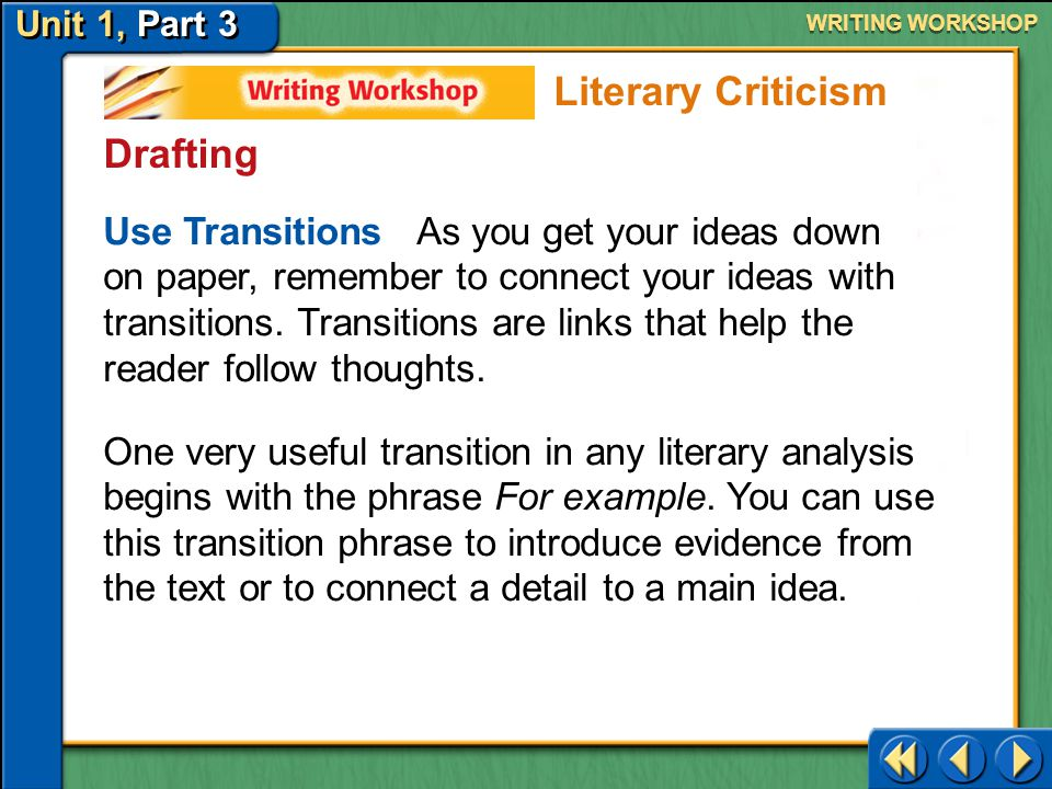 Literary Criticism Drafting
