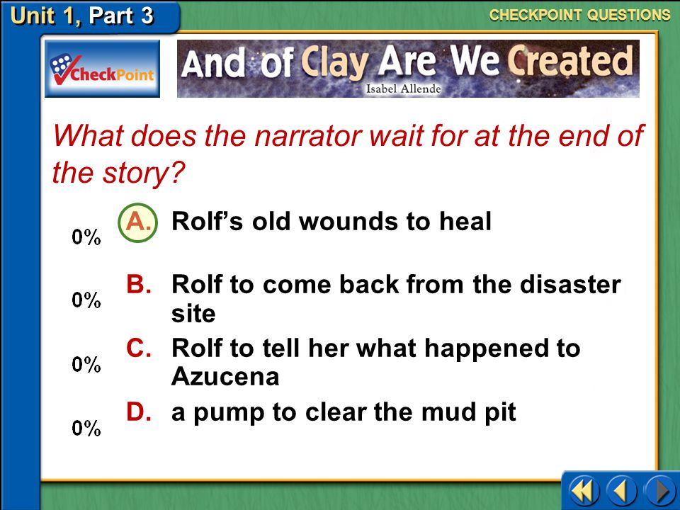 What does the narrator wait for at the end of the story