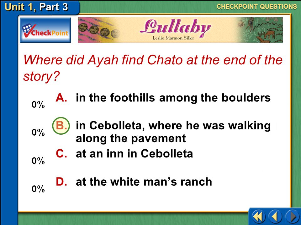 Where did Ayah find Chato at the end of the story