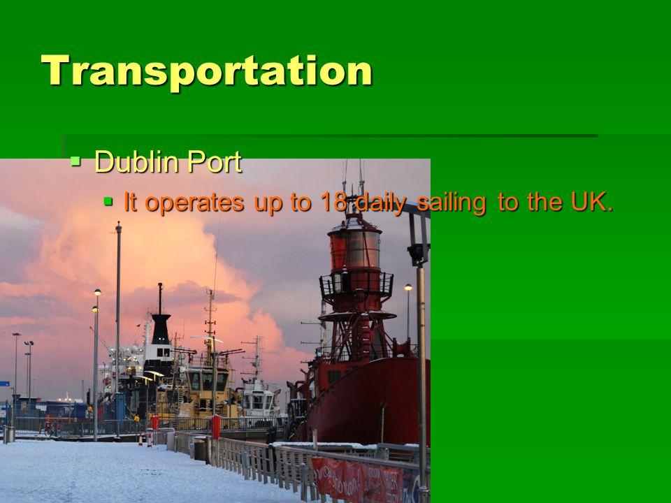 Transportation Dublin Port