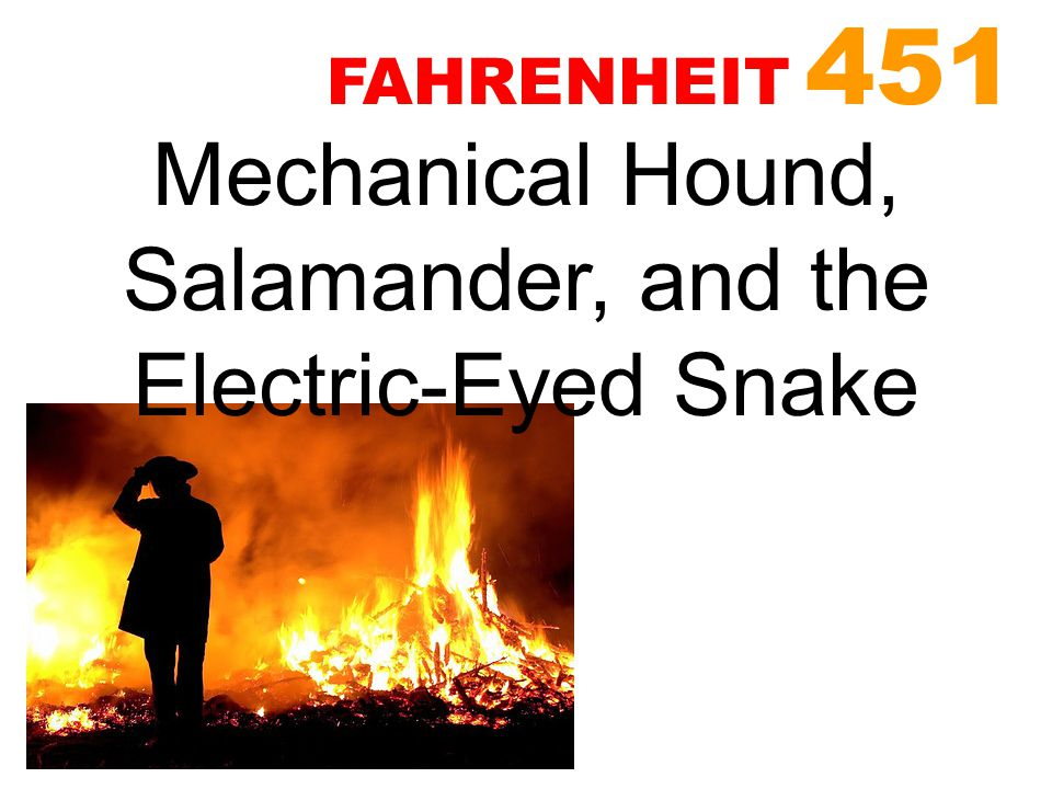 Mechanical Hound, Salamander, and the Electric-Eyed Snake