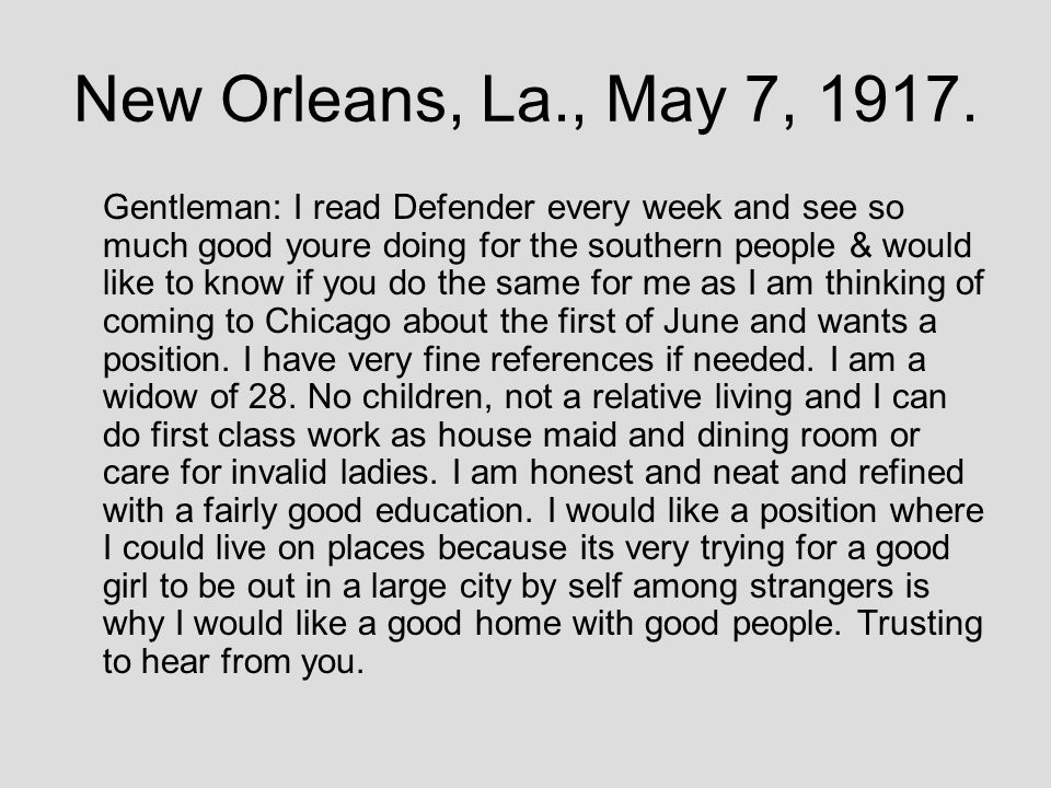 New Orleans, La., May 7, 1917.