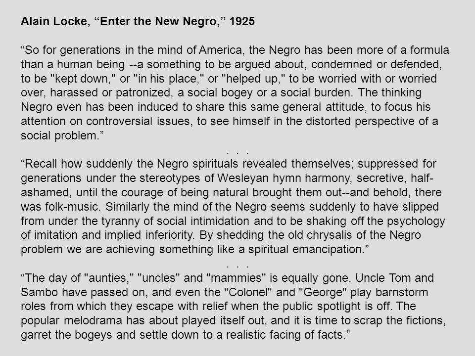 Alain Locke, Enter the New Negro, 1925