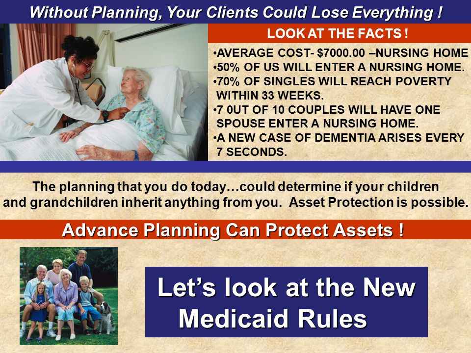 Let's look at the New Medicaid Rules