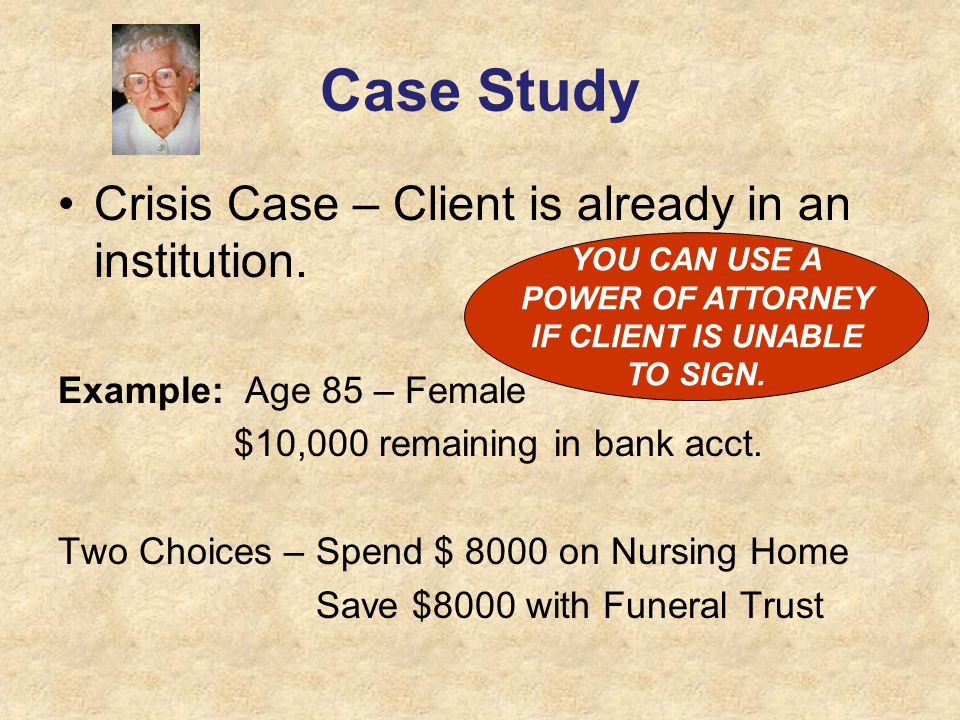 Case Study Crisis Case – Client is already in an institution.