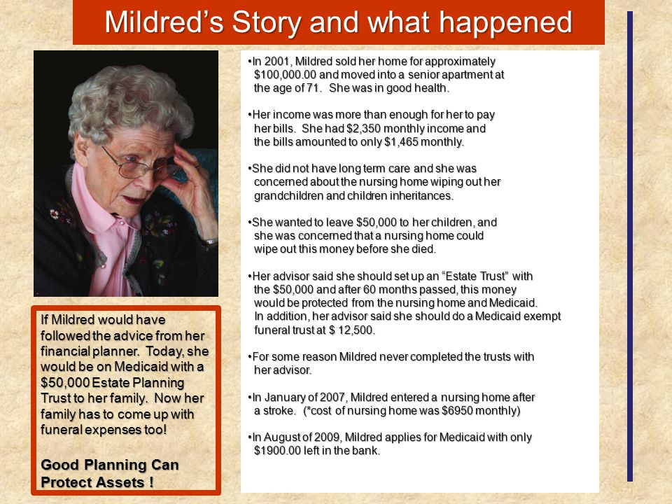 Mildred's Story and what happened