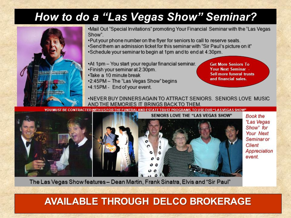 How to do a Las Vegas Show Seminar