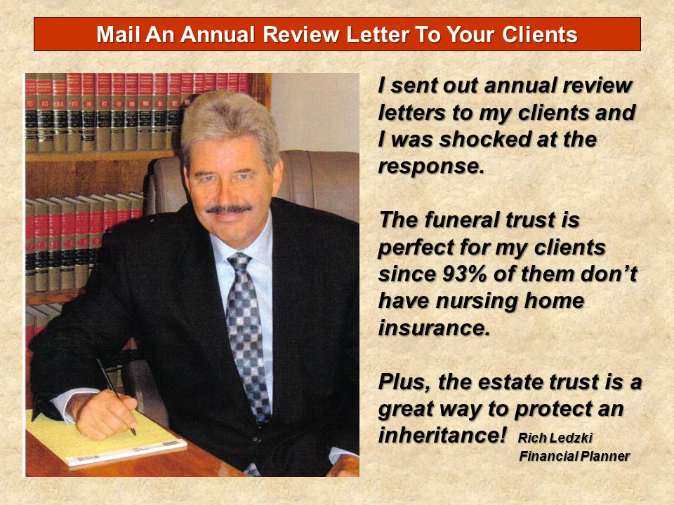 Mail An Annual Review Letter To Your Clients