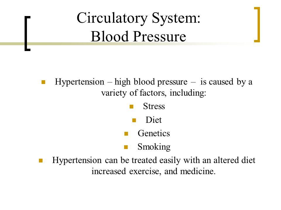 Circulatory System: Blood Pressure