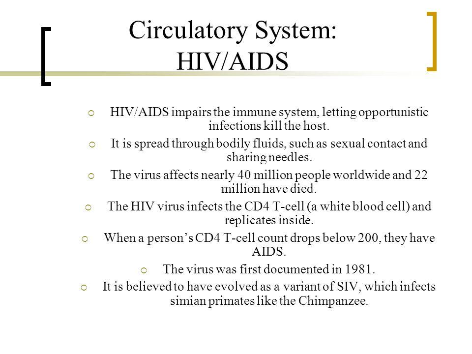 Circulatory System: HIV/AIDS
