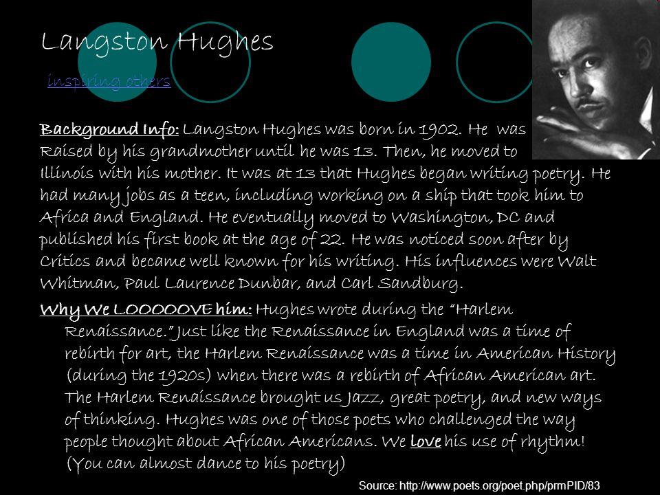 Langston Hughes inspiring others