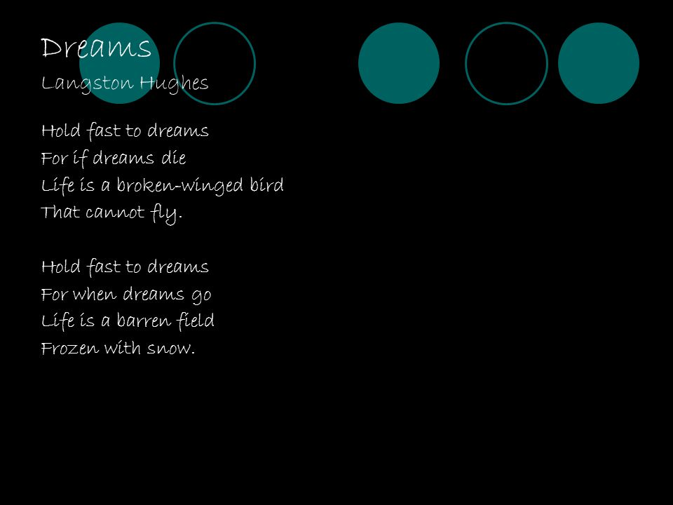 Dreams Langston Hughes