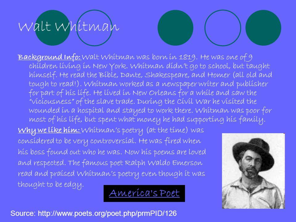 Walt Whitman America s Poet