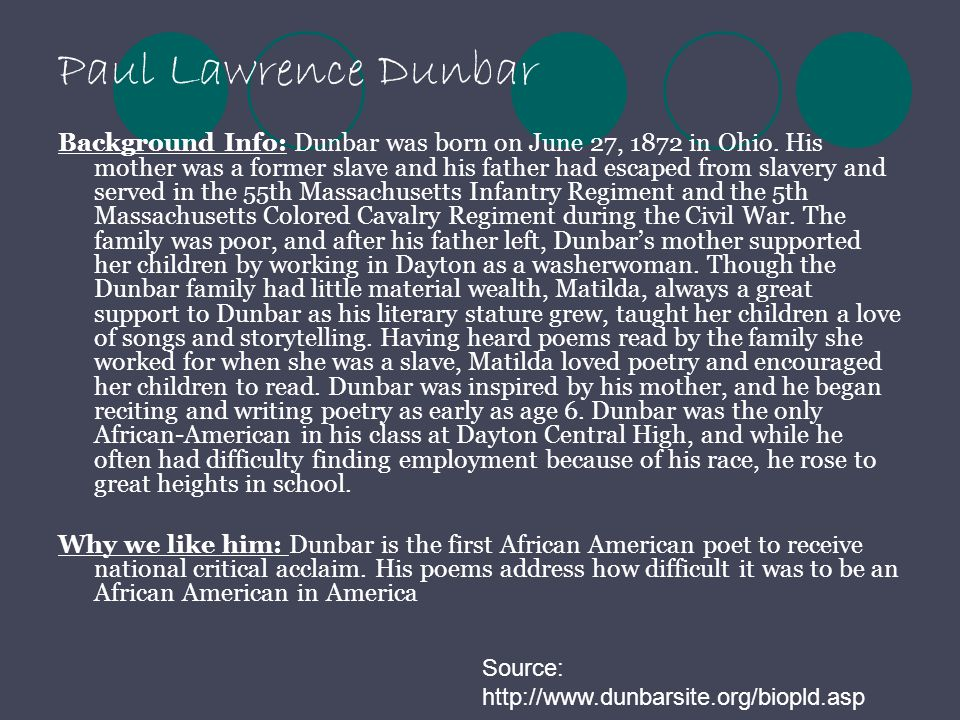 Paul Lawrence Dunbar