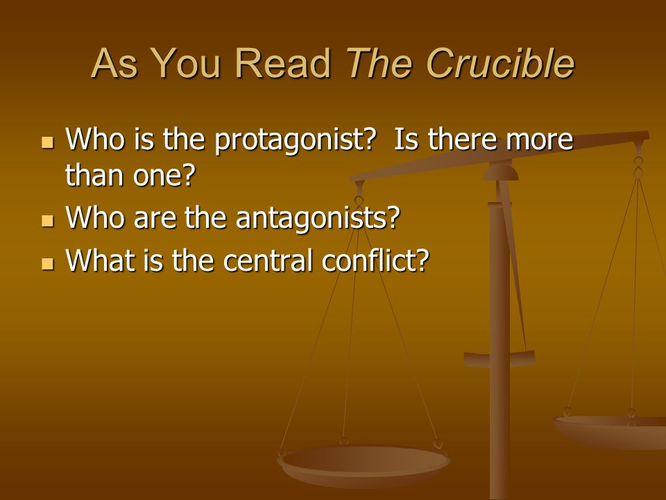As You Read The Crucible
