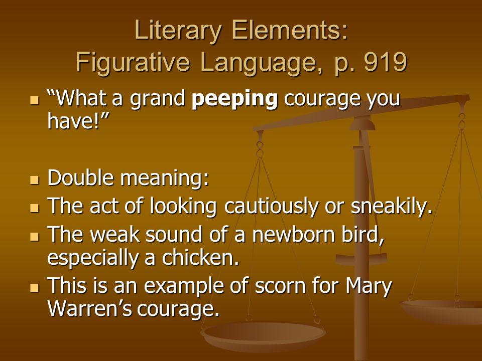 Literary Elements: Figurative Language, p. 919