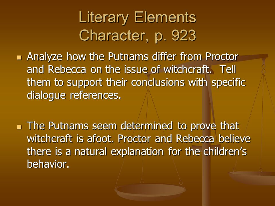 Literary Elements Character, p. 923
