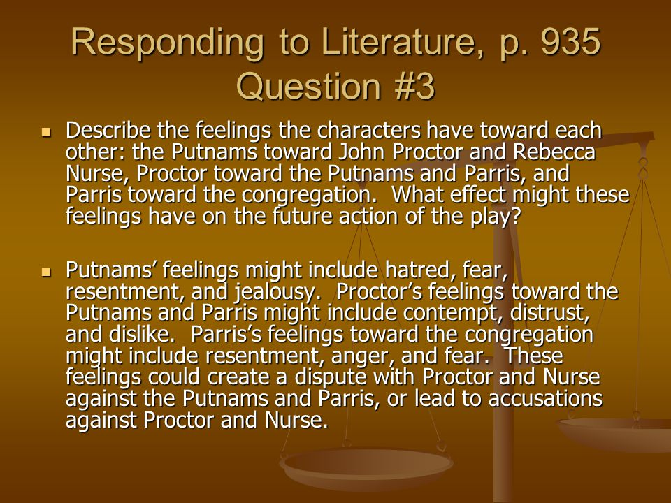 Responding to Literature, p. 935 Question #3