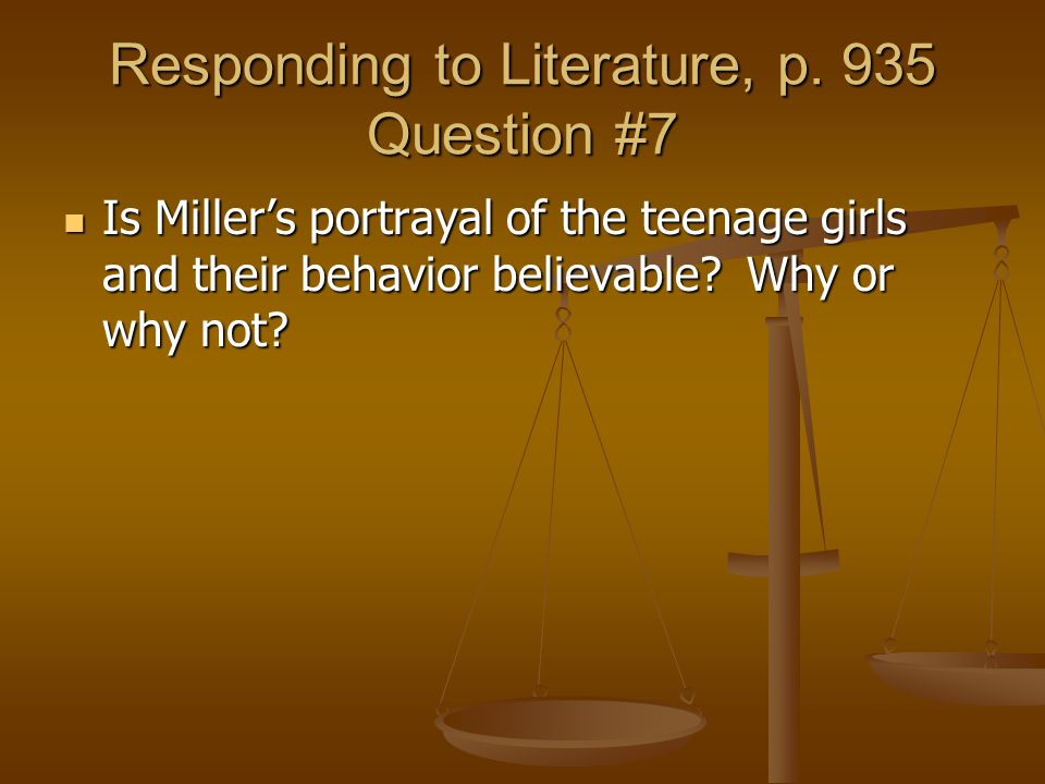Responding to Literature, p. 935 Question #7