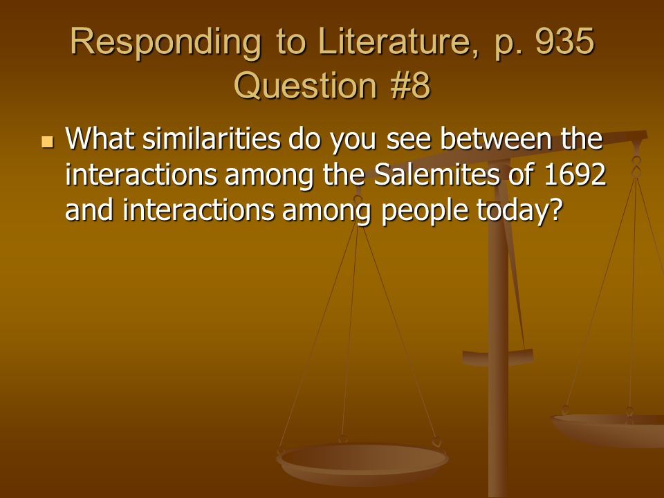 Responding to Literature, p. 935 Question #8