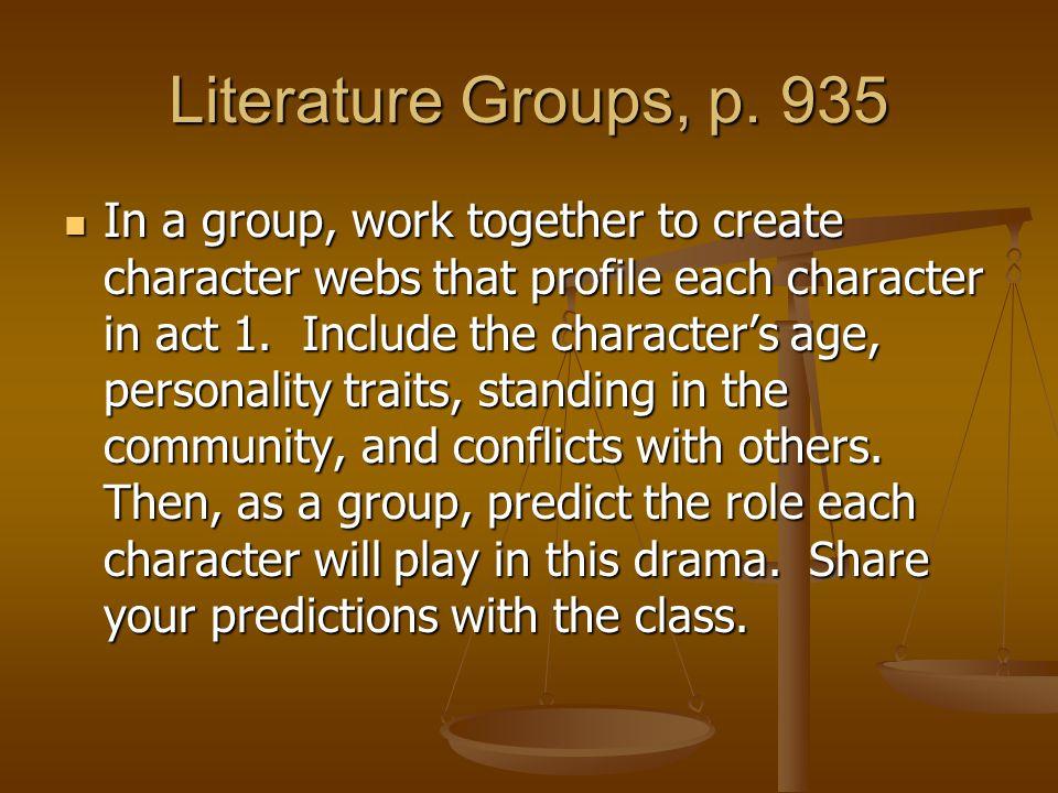 Literature Groups, p. 935