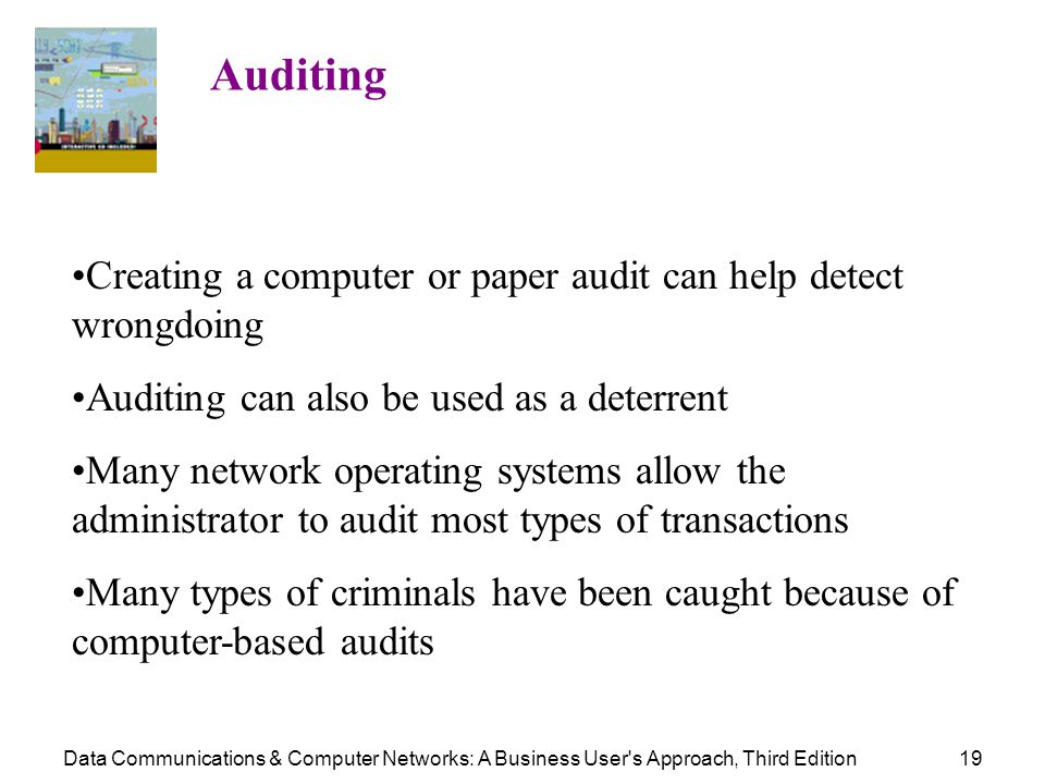 Creating a computer or paper audit can help detect wrongdoing