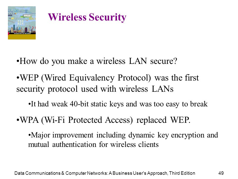 How do you make a wireless LAN secure