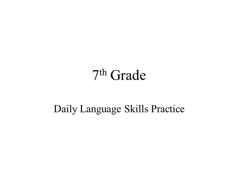 Daily Language Skills Practice