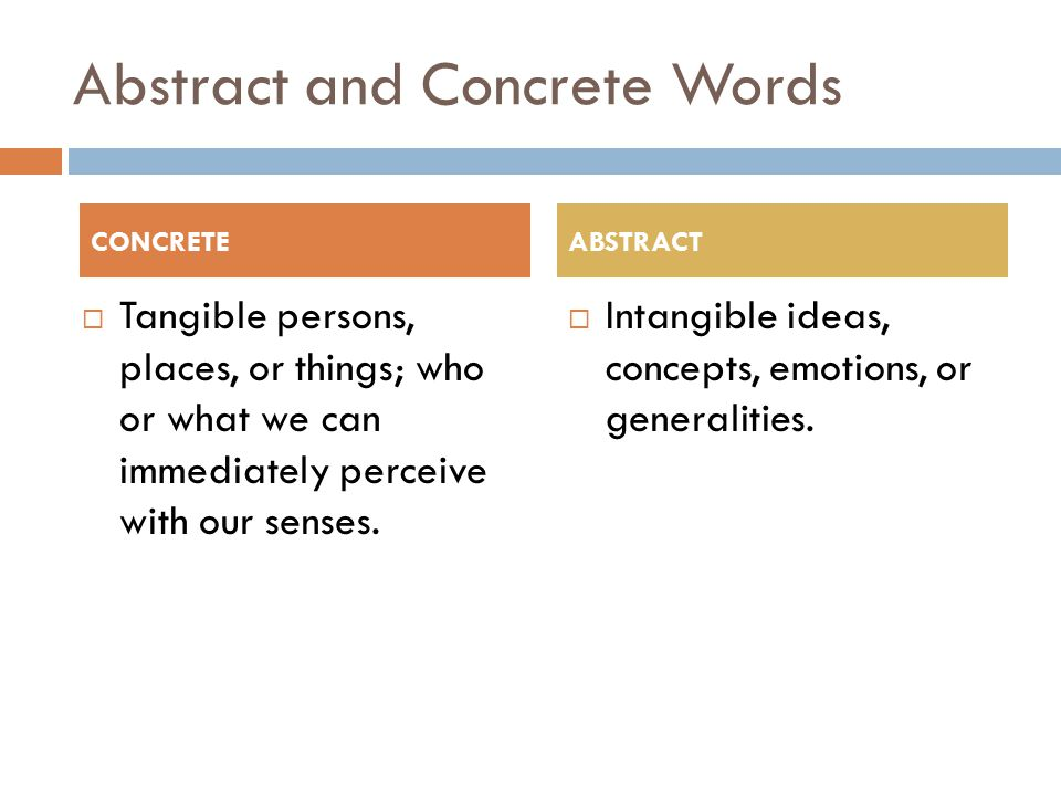 Abstract and Concrete Words