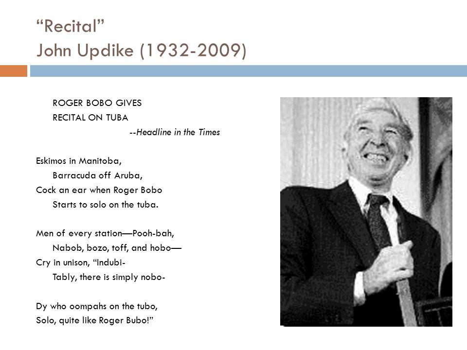 Recital John Updike (1932-2009)