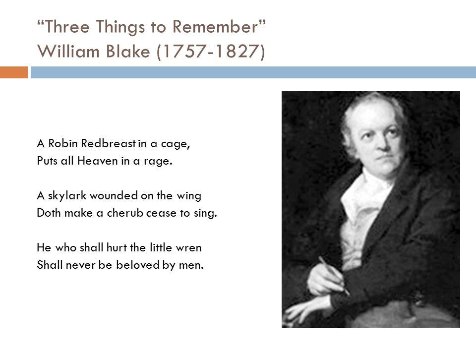 Three Things to Remember William Blake (1757-1827)