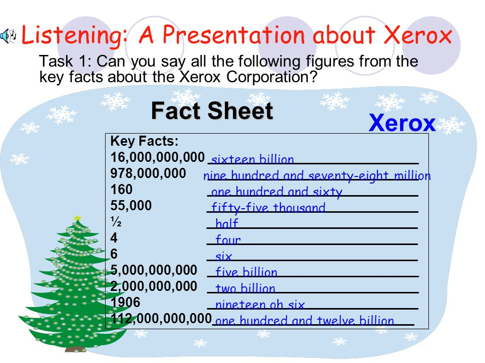 Listening: A Presentation about Xerox