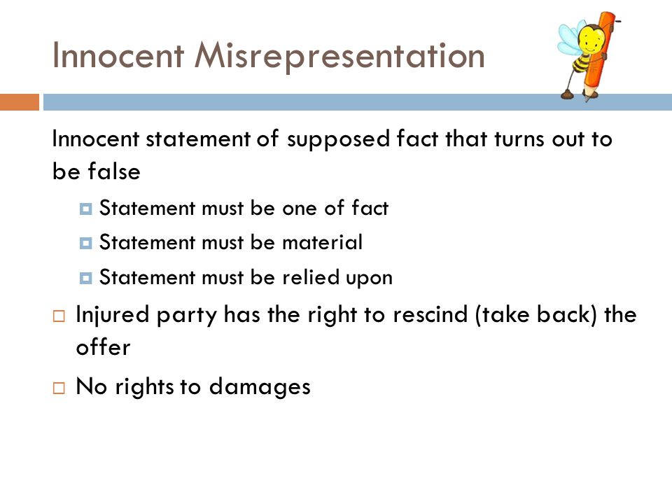 Innocent Misrepresentation