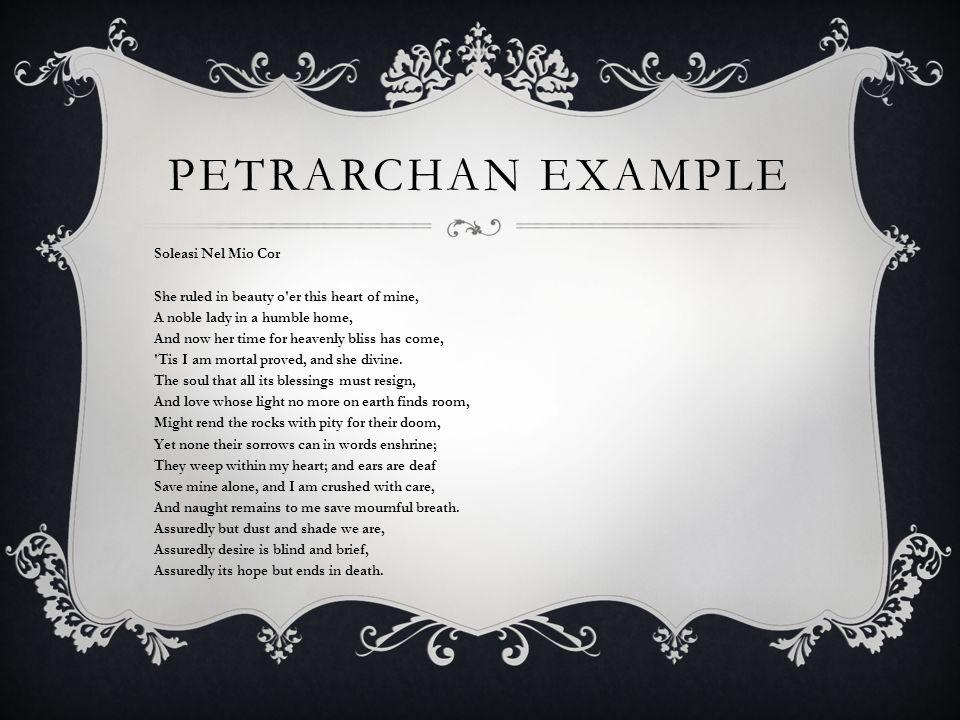 Petrarchan Example