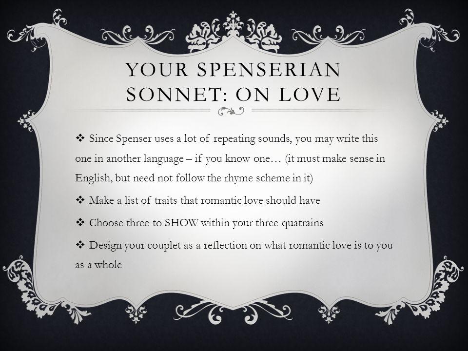 Your Spenserian Sonnet: On Love
