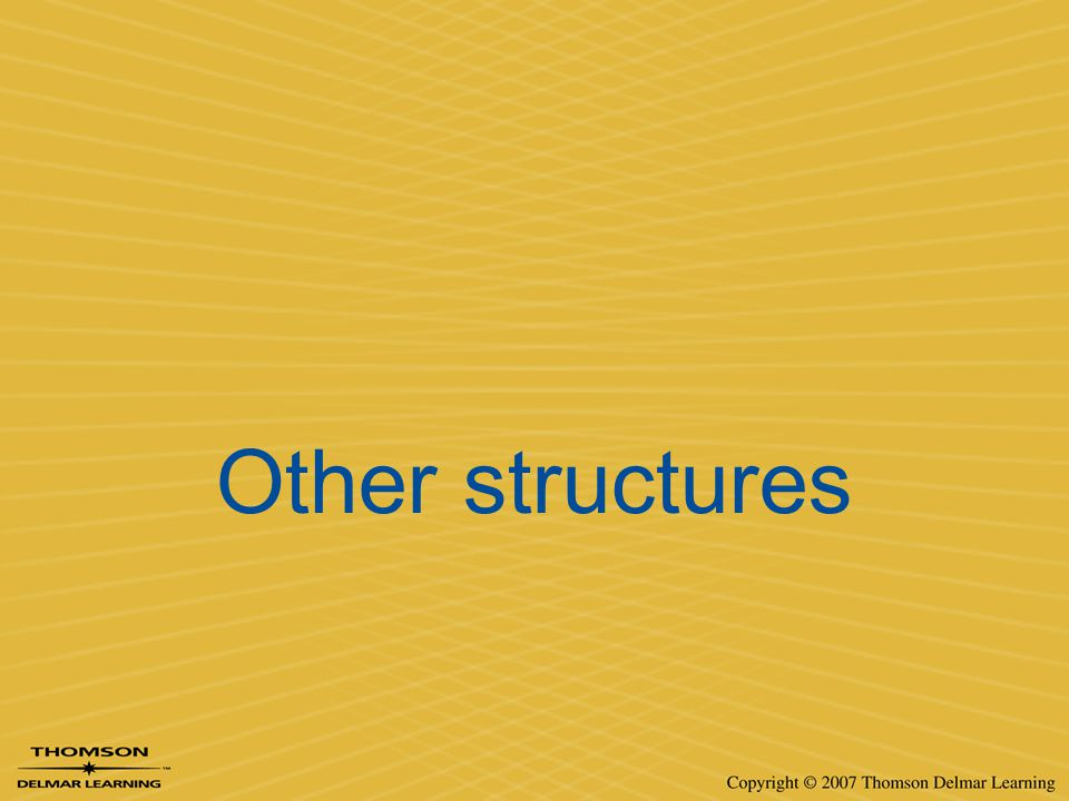 Other structures