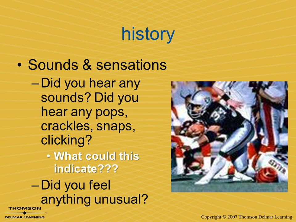 history Sounds & sensations