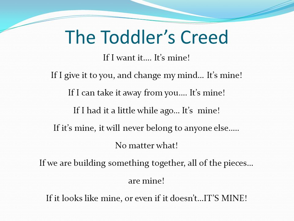 The Toddler's Creed