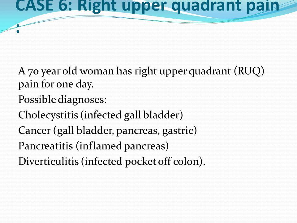 CASE 6: Right upper quadrant pain :