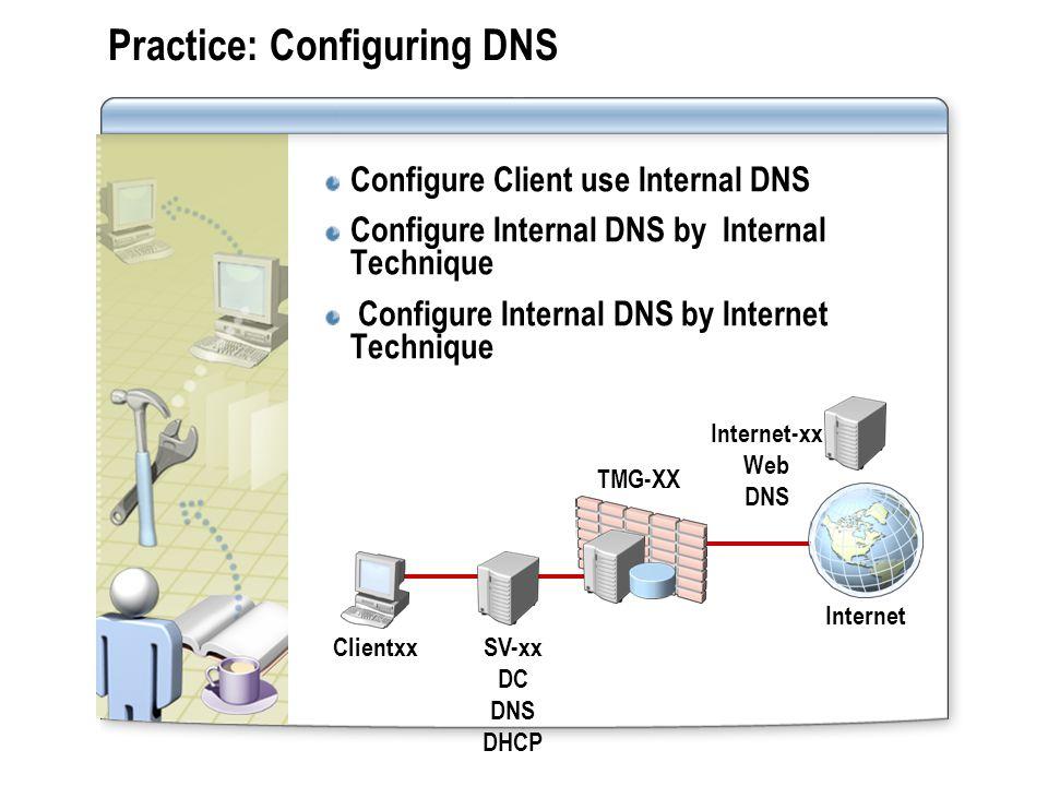 Practice: Configuring DNS
