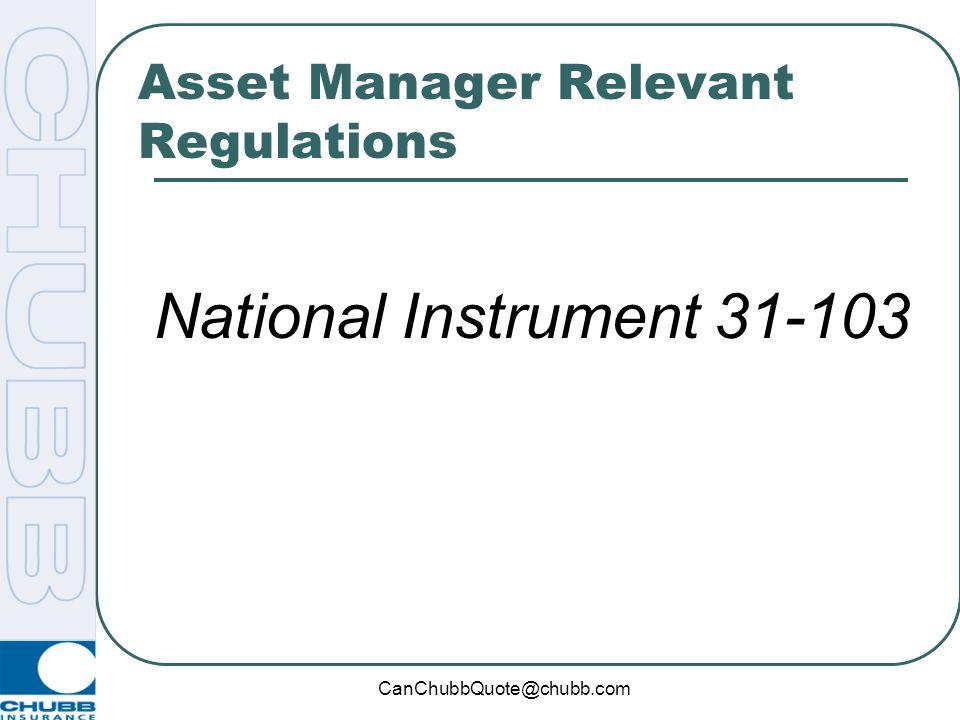 Asset Manager Relevant Regulations