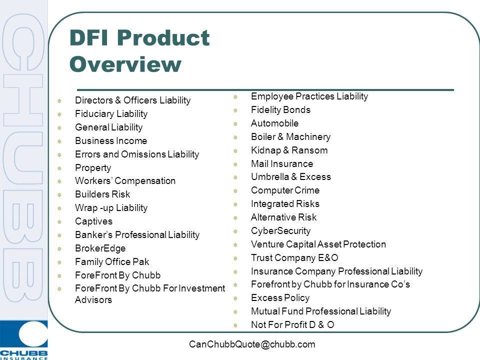 DFI Product Overview Employee Practices Liability