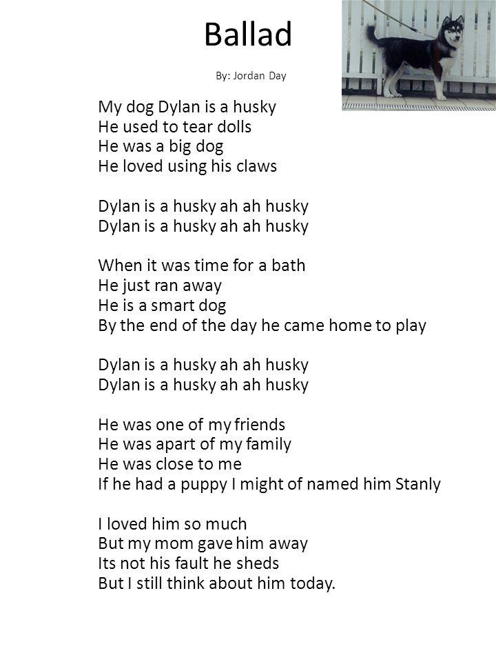 Ballad By: Jordan Day.