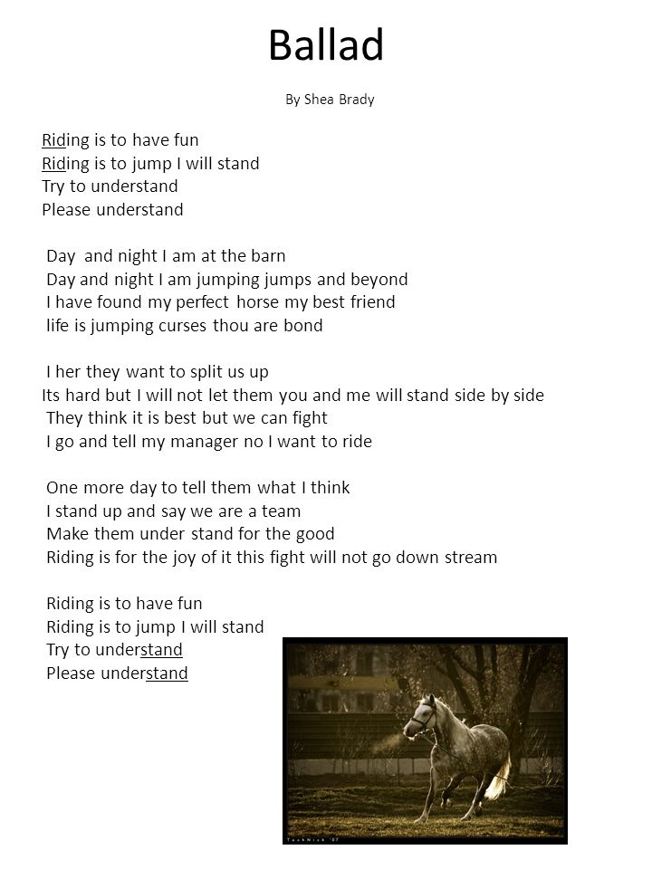 Ballad By Shea Brady.
