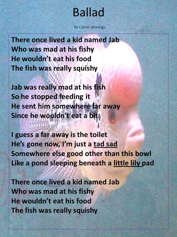 Ballad By Calvin Jennings.