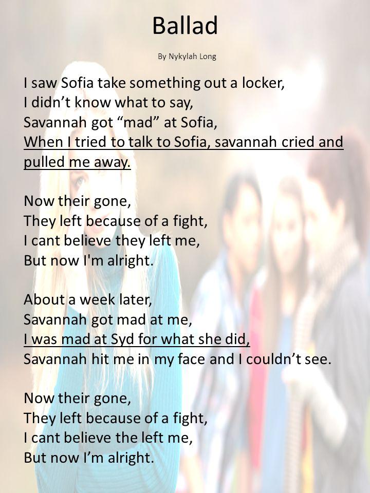 Ballad By Nykylah Long.