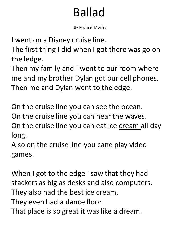 Ballad By Michael Morley.
