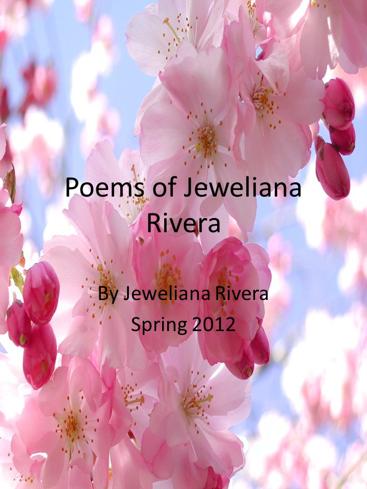 Poems of Jeweliana Rivera