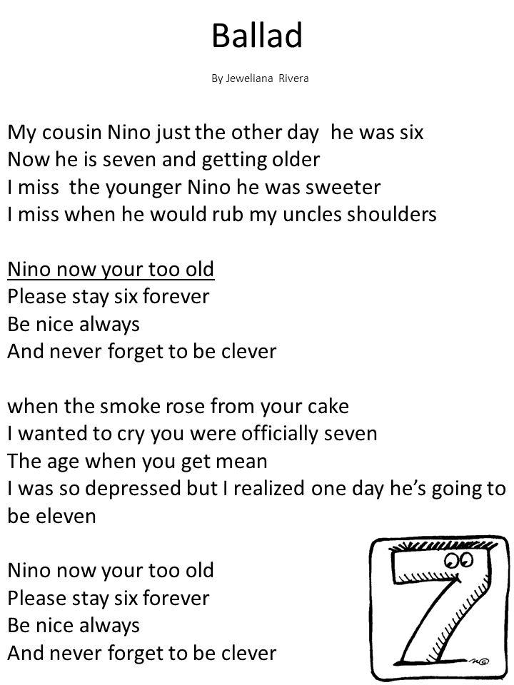 Ballad By Jeweliana Rivera.